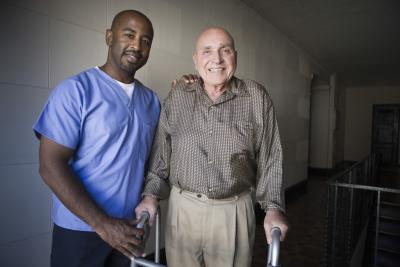 caregiver and his senior patient